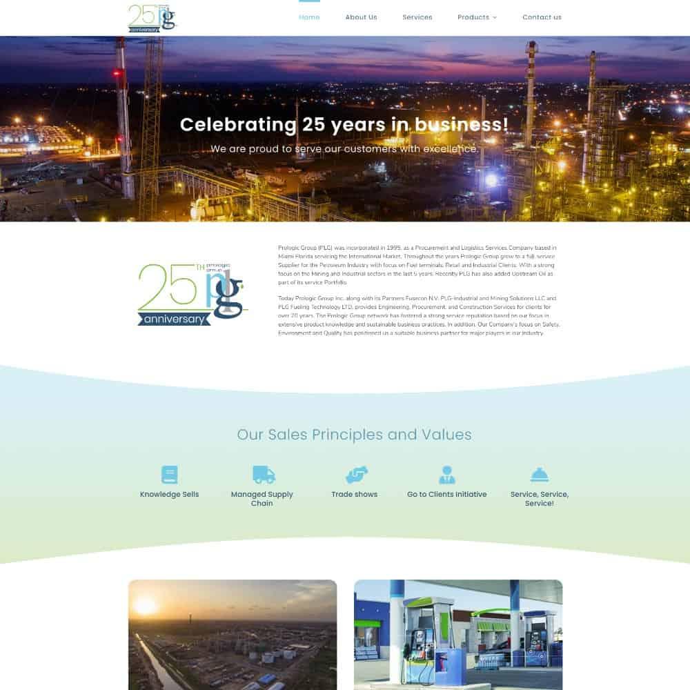 Logo 25 años y sitio web para Prologic Group