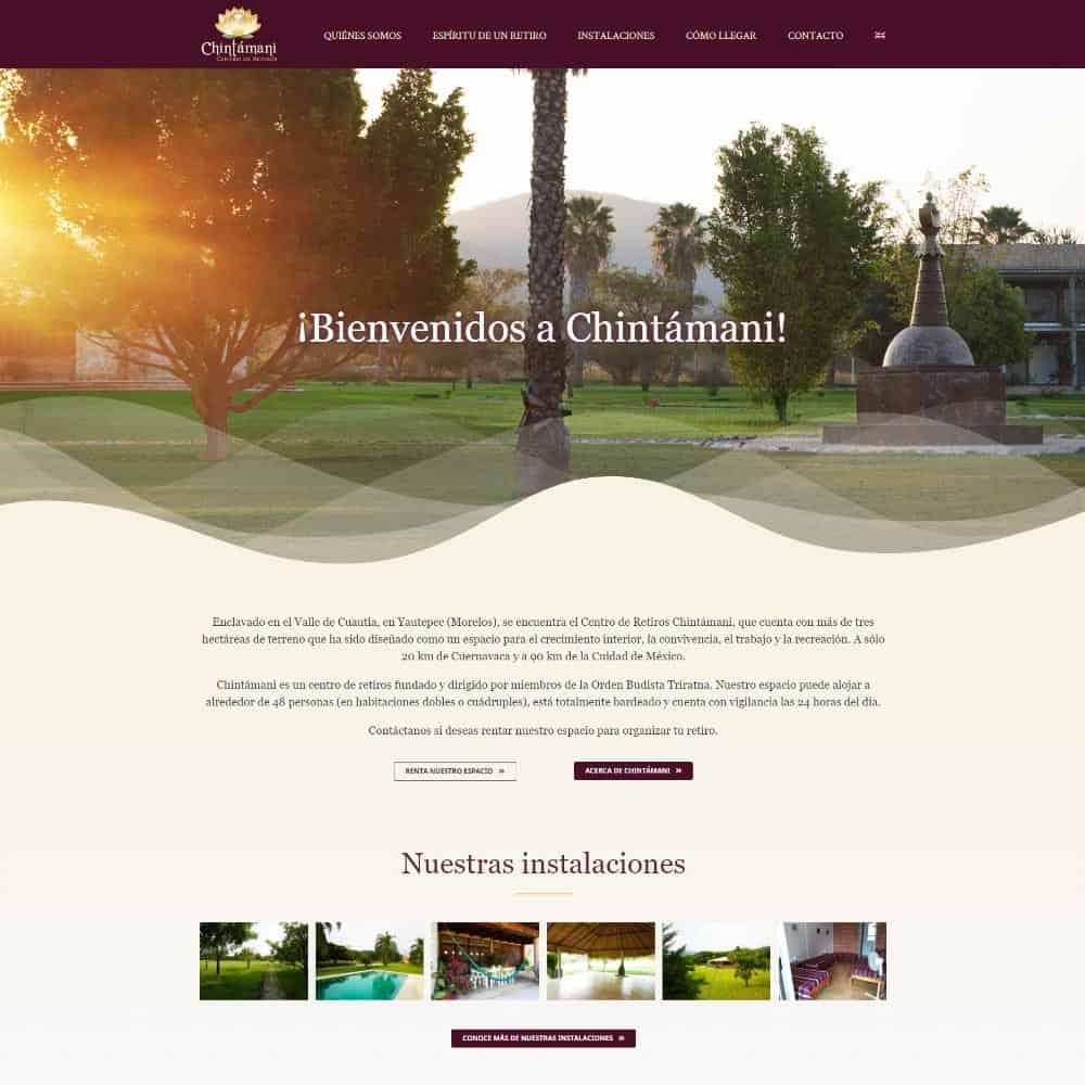 Sitio web para Chintámani Centro de Retiros