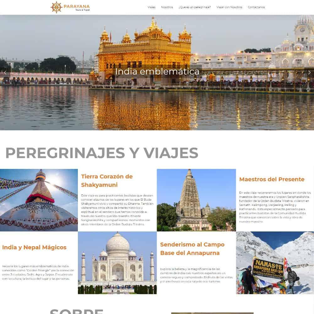 Actualización de logo y sitio web para Parayana Tours & Travel