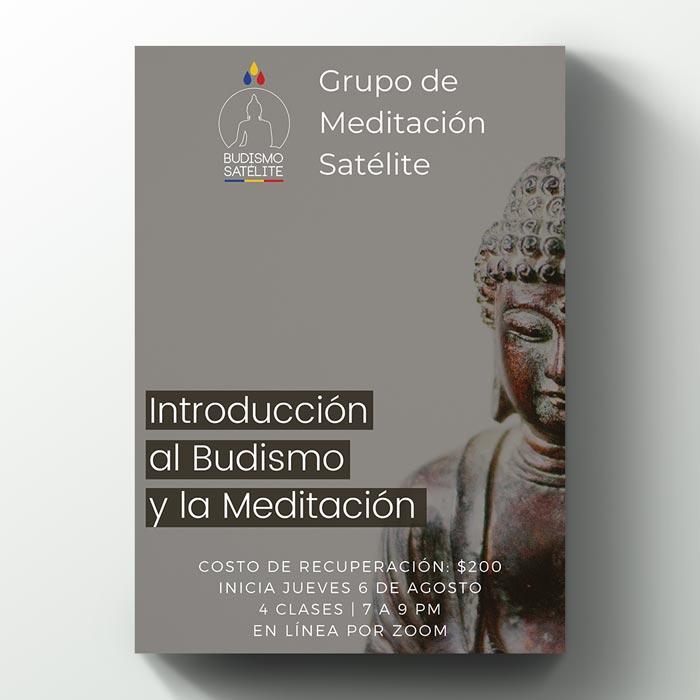 Logo, sitio web, posters y publicidad digital para Budismo Satélite